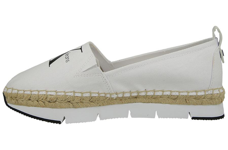 Klein Wht Genna Canvas Damen R3768 Schuhe Calvin 4ALR5j