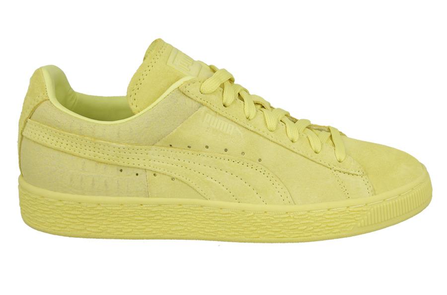 Herren Puma Suede Classic Casual Emboss Schuhe grau Lo