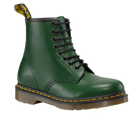 DAMEN SCHUHE DR. MARTENS 1460 GREEN SMOOTH